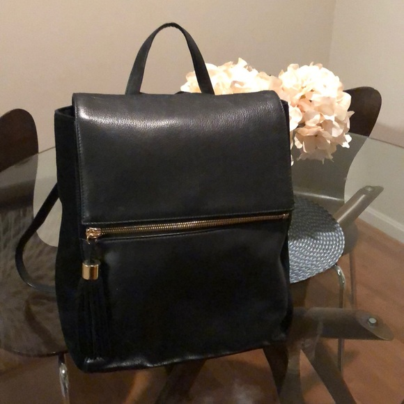 Margot Handbags - Margo suade and leather bag/backpack with tassel